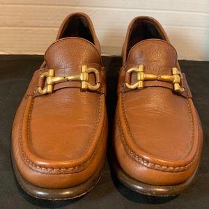 Salvatore Ferragamo Men Sz 9.5 EE Horsebit Loafers